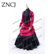 ZNCJ plus size Summer women Vintage victorian lolita dress Ladies evening party bandage gothic maxi dress lolita costumes custom(China)