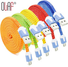Olaf New Nylon Braided Micro USB 2.0 Data Sync Charging Cord Cable For Samsung Galaxy S8 S7 S6 Edge HTC Xiaomi LG Huawei Android