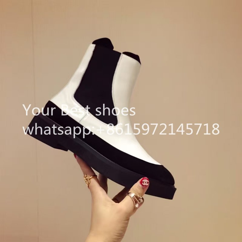 New Arrival Fashion Thick High Heels Boots Women Platform Slip On Hot Sale Motorcycle Mixed Color Winter combat boot Shoes Black<br><br>Aliexpress