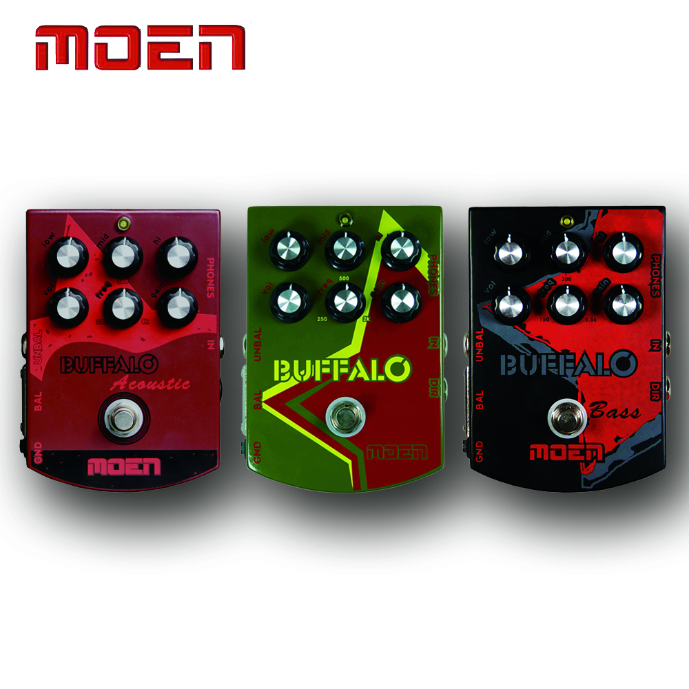 Moen Buffalo Multi Voice Video Recording Acoustic Guitar/Bass/Electric Guitar Effects Pedal Analog Dedicated and Power Supply<br>