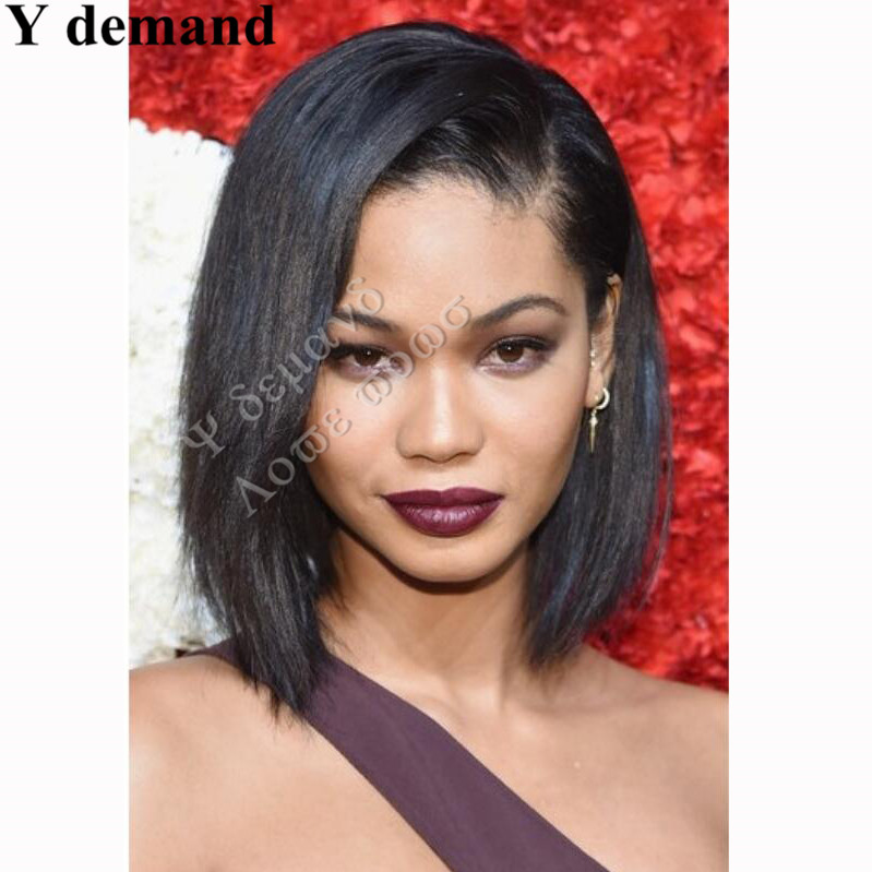Classic Femal short bob black wigs synthetic hair wigs for black women african american straight full wigs false hair<br><br>Aliexpress