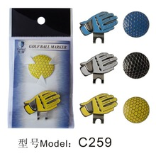golf ball markers with cap clips(China)