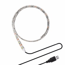 USB 5V LED Strip 2835 3528 SMD Non Waterproof LED Tape Ribbon String Light Lamp for Computer Bike TV Background Lighting