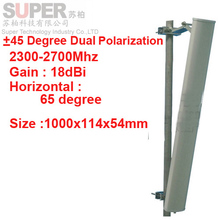 18dbi dual polarization +45&-45 degree 2300-2700Mhz Panel antenna 2.4G wifi antenna Base station use FDD 4G antenna,TDD antenna