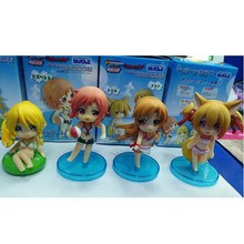 sexy 4pcs/set Sword Art Online 2 Kirito Asuna Leafa Shirika Lisbet Anime Figure with Box swim suit