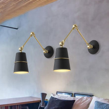 Post - modern creative living room bedroom wall lamp Nordic study room personality aisle long arm wall light