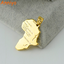 Anniyo Wholesale Bulk Africa Map Pendant Charms Gold Color Jewelry Women Men,Ethiopian/Nigeria/Kenya/South Africa/Congo
