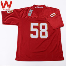 WENWUBIN Mens #58 Deck Thomas Embroidered Throwback Football Jersey