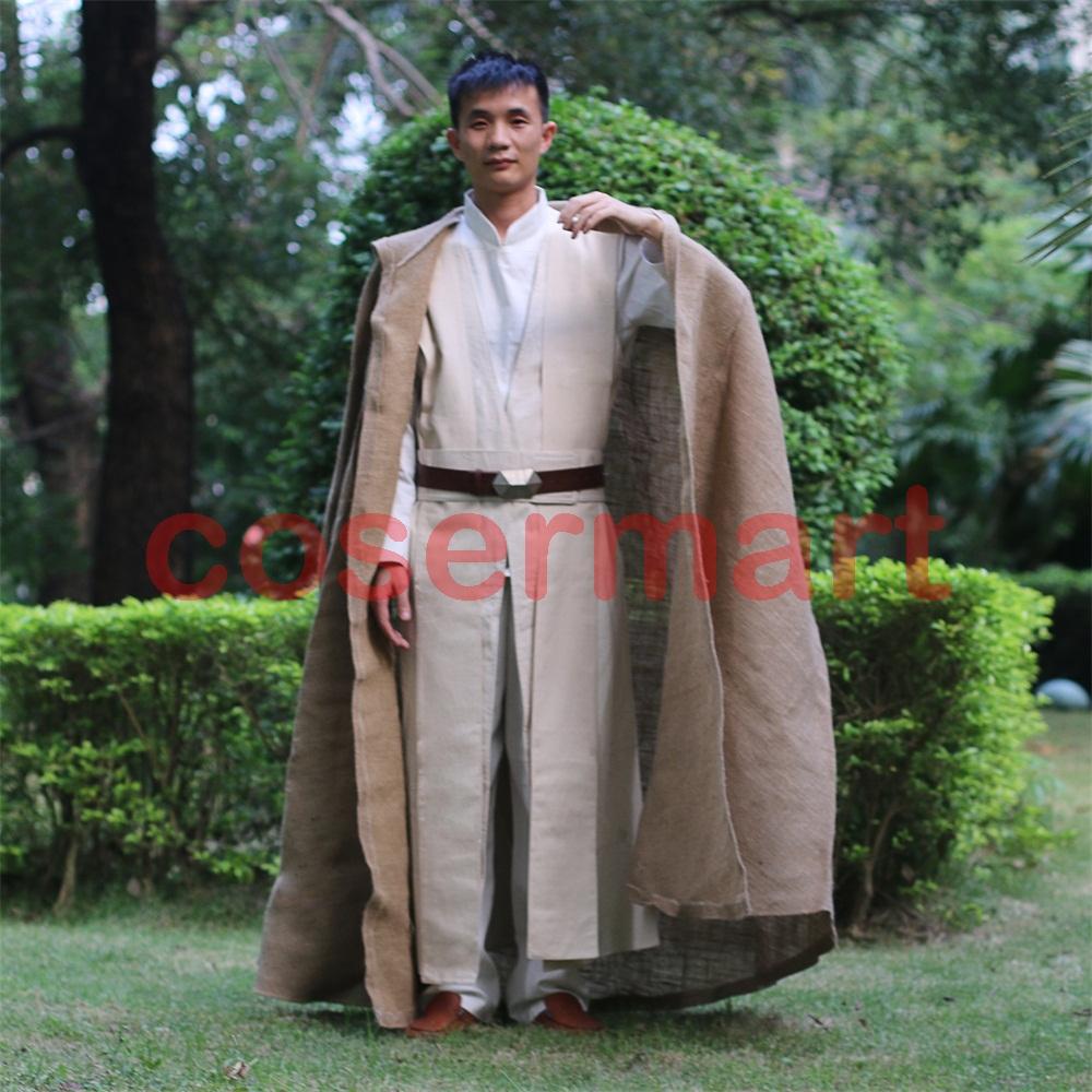 Free Shipping NEW Star Wars Jedi Luke Skywalker Custom Cosplay Costume Made Full Set COS Halloween Costume Christmas (3)