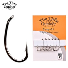 1 pack high carbon steel carp fishing Hooks high strong carp fishing fishhook size 2#-10# for carp fishing de pesca