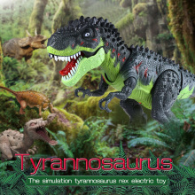 New Realistic  Dinosaur World Flashing Plastic Tyrannosaurs Toy Gorgeous Gift Electronic Dinosaur Toys For Children Kids