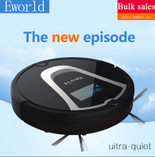 Eworld Robotic Vacuum Cleaner M884 with Cleaning Brush, Rechargeable Automatic Cleaning Robot for Floor(Online Shipping)(China)