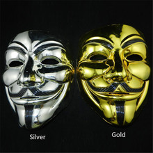 1 PC New V for Vendetta Mask Halloween party mask Anonymous Guy Fawkes Fancy Dress Adult Costume Accessory P50(China)