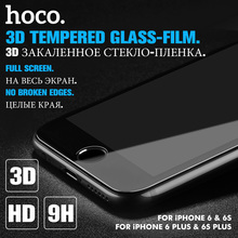 HOCO 3D Tempered Glass Film for Apple iPhone 6 6S PLUS 9H Screen Protector Protective Full Cover for Touch Screen Protection(China)