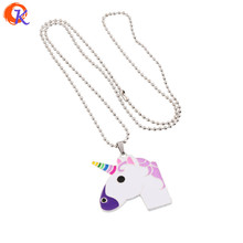 Cordial Design 1Pcs Chunky Alloy Oil Unicornio Pendants Neckalce Charms Ball Chain Necklace For Women Girls Kids Gift Jewelry(China)