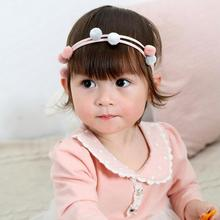 Lovely Multi Fur Ball Elastic Hairbands Cute Headband For Kids Children Girl Headwear Hair Accessories C2(China)