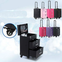 Trolley Manicure Box Cosmetic Case Mute Cannon Professional with makeup hairdressing semi-permanent pattern toolbox