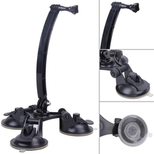 For Camera Car Suction Cup Sucker Extend Holder Mount with Universal 1/4 screw for Xiaomi yi Gopro Hero 5 4 2/3/3+/4