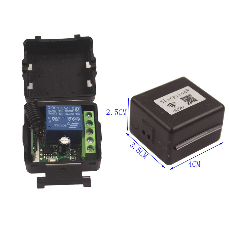12V 10A RF Wireless Delay Toggle Remote Control Switch 315433Mhz 123 Transmitter Receiver garage doorwindowlamp (9)