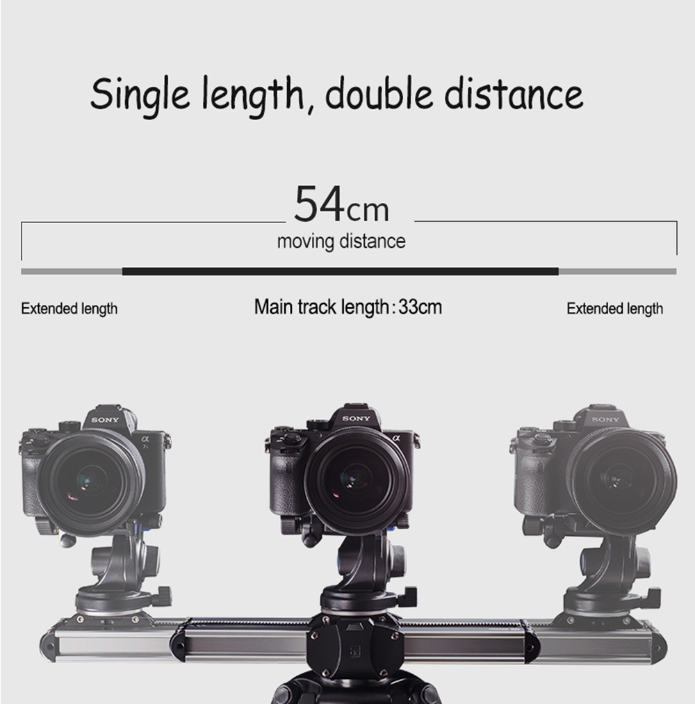 Portable Micro 2 Professional Camera Video Slider Travel Track Slider Dolly Track Rail for DSLR ARRI Mini RED BMCC  Iphone X  3