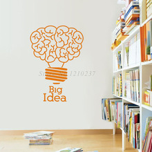 DCTOP Big Idea Lightbulb Wall Stickers Vinyl Art Self Adhesive Removable Home Decor Bedroom Decoration(China)