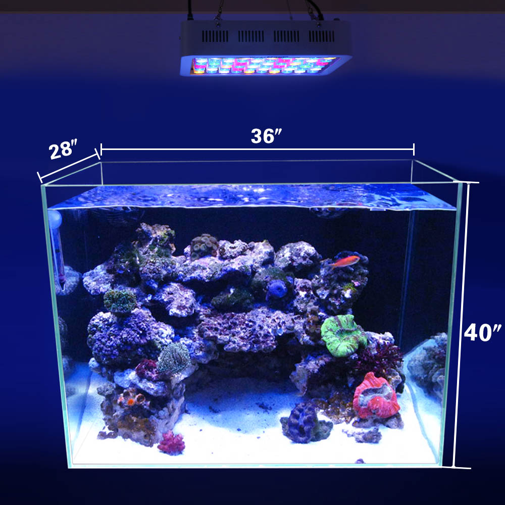 LED Aquarium Light 180W Series Dimmable Full Spectrum For Coral Reef Grow For Plants Fish Tank Aquarium Decorations Include (29)