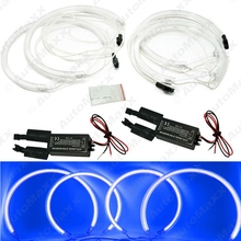 2 X127.5mm 2X158mm Blue Car CCFL Angel eyes LED Kits for BMW X5(E53)angel eyes kits #J-3899