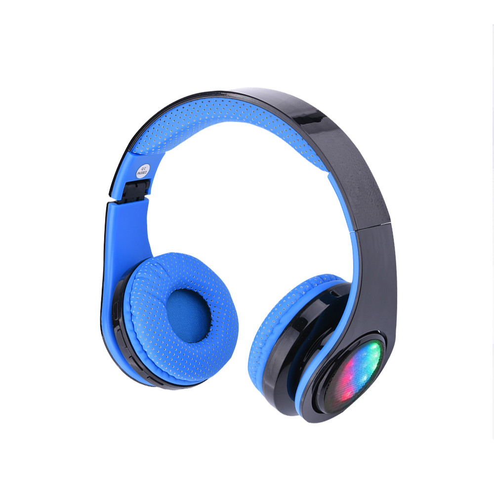 Bluetooth Headphone Noise Cancellation Headset 6 Light Led Foldable Earphones Wireless Headphone for Iphone <br>