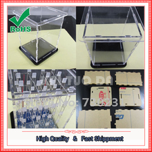 Free Shipping Transparent Acrylic Cube Shell For 4x4x4 3D LightSquared 2*5*7MM LED Cube(China)