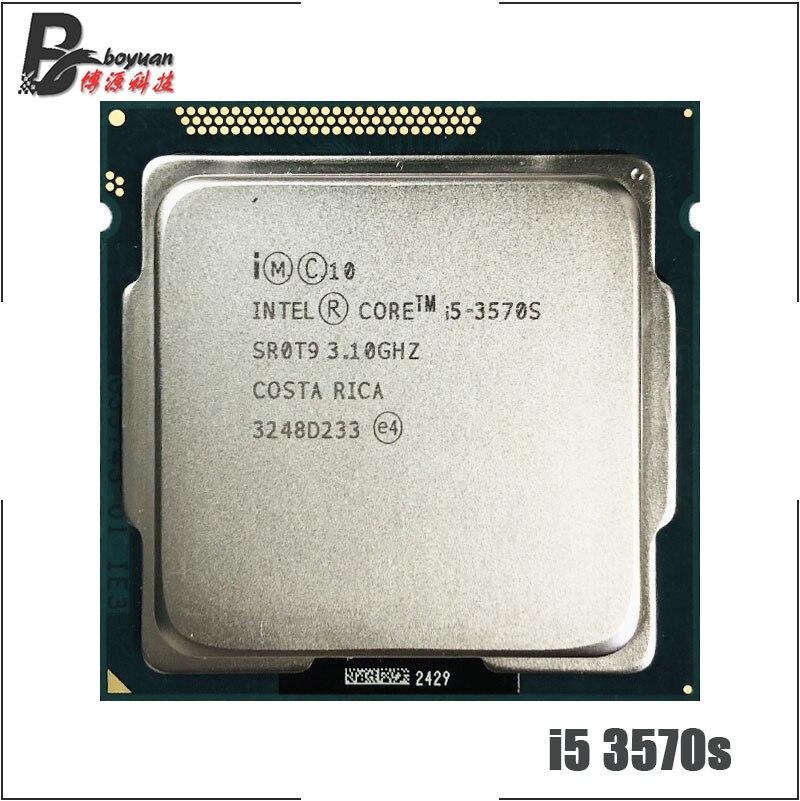 Процессор Intel Core i5 3570S 3 1 ГГц четырехъядерный процессор 6M 65W LGA 1155 cpu processor intel core