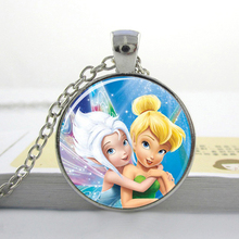 Free shipping  fairy and Periwinkle Pendant Fairy Dust Necklace Jewelry  fairy Necklace