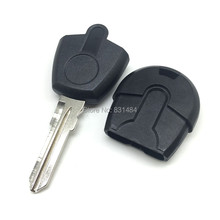 20pcs/lot New style Replacement Car Key For Fiat transponder Key Shell no chip key blank fob with logo