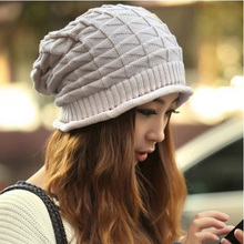 Women Fall Hats Twist Pattern Beanies Winter Gorros Female Knitted Warm Skullies Cap Feminino