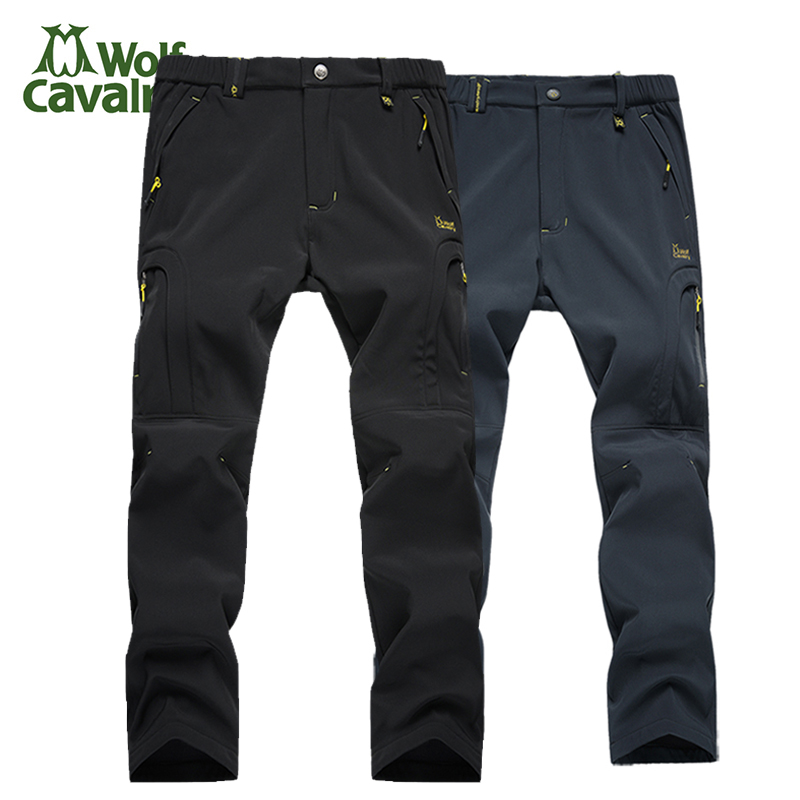 Hot Women Softshell Climbing Pants Camping Hiking Pants Outdoor Pants Trousers With Fleece Keep warm Waterproof Combat Trousers<br>
