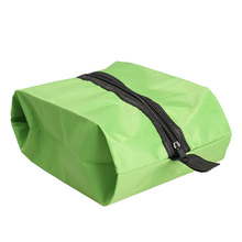 Nylon Oxford Waterproof Shoe Bag Travel Outdoor Storage Tote Dust Bag Green
