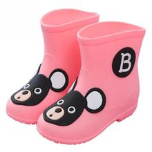 Cute Kids Outdoor Shoes Cartoon Boys Girls Childrens Rain Cartoon Crystal Jelly Skid Rainy Day Wearing Boots(China)