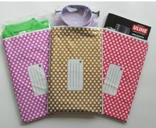 25*39cm Purple Polka dot large Gift poly mailer Bags,Plastic Express Courier bag,Self Adhesive poly Mailing mailer shipping Bag(China)