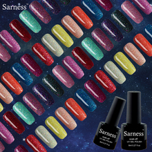 Sarness Gel Glitter UV Couleur Fluorescent Neon Luminous Gel Nail Polish Soak Off Lacquer Glow In The Dark Nail Gel Varnish Set(China)