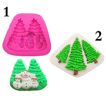 Christmas Tree Silicone Molds Soap Candle Mold Fondant Cake Xmas Decor DIY Chocolate Candy Sugarcraft Mould Baking Pastry Tools