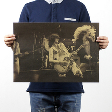 [H210] Led Zeppelin / B models / retro rock poster / Kraft vintage posters / Bar decoration 51x35.5cm