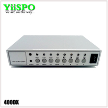 YiiSPO 4CH Color Video Digital Color Quad Splitter Processor CCTV System Kit Switcher Metal Case with 4in 2out BNC adapter(China)