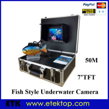 Underwater Camera With Monitor China Underwater Fishing Video Camera 50m Cable Fish Finder 7' TFT