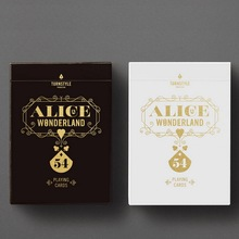Alice in Wonderland Original 1PCS New Sealed Playing Card Deck TURNSTYLE Poker Magic props Magia Tricks white color in stock(China)
