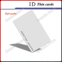 500pcs/lot EM ID card 4100/4102 reaction ID card125khz rfid proximity smart card for access control system&attendance free ship