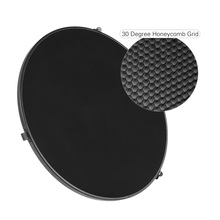 "Andoer 15.6""/39.5cm Aluminum Alloy 30 Degree Honeycomb Grid for Bowens 41cm/16"" Reflector Diffuser Beauty Dish"