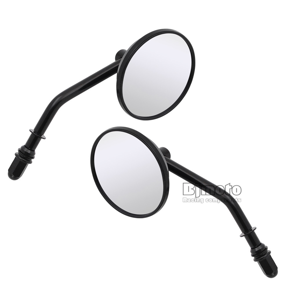 Black Motorcycle Rear View Mirrors for Harley Cruiser Bobber Sportster 883 1200