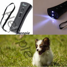 Heropie Outdoor Remote Dog Training Collar Black Trainer Pet Double Heads Repeller High Quality Training Device with LED Light(China)