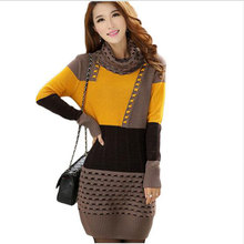 Buy 2017 Winter Autumn Women Sweater Dresses Long Sleeve Knitted Wool Sweater Dress Female Turtleneck Mini Slim Dress Woman Clothing for $22.98 in AliExpress store