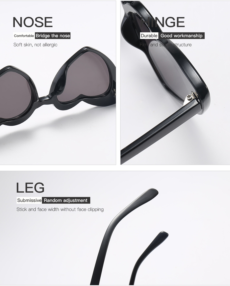love heart sunglasses women cat eye vintage 7112 details (10)