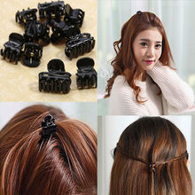 10 Mixed Small Plastic Black Exquisite Bow Hair Clips Hairpin Claws Clamps for Women Cool Summer Party Holder